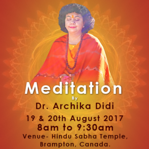 Canada Meditation- August2017